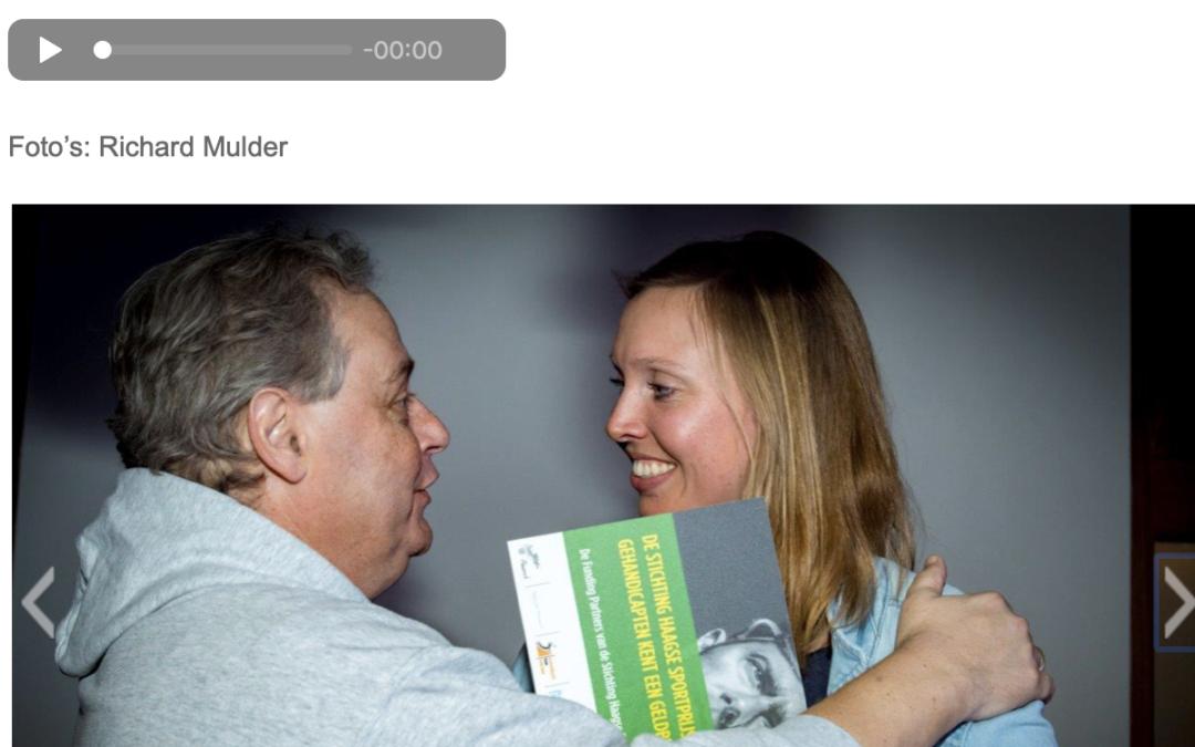 Renske van Beek wint de Wouter Duinisveld Award, de Haagse sportprijs voor gehandicapten